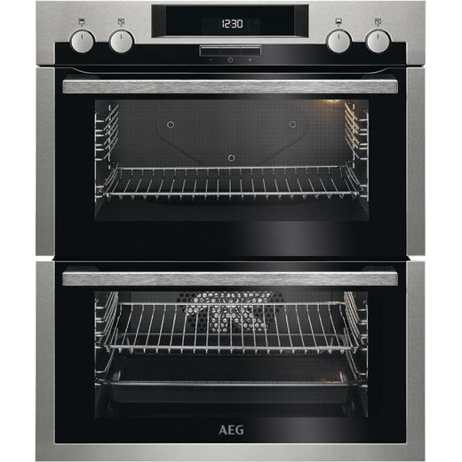 AEG DUE431110M Built Under Electric Double Oven - Stainless Steel - A/A Rated