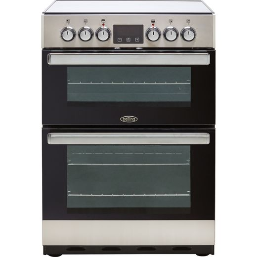 Belling Cookcentre 60E Electric Cooker with Ceramic Hob - Stainless Steel - A/A Rated