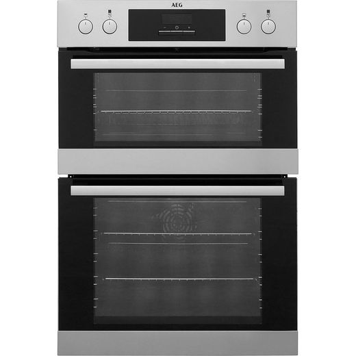 AEG DCB331010M Built In Electric Double Oven - Stainless Steel - A/A Rated