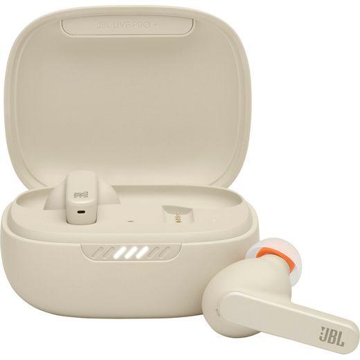 JBL Live Pro+ In-Ear Bluetooth Headphones - Beige