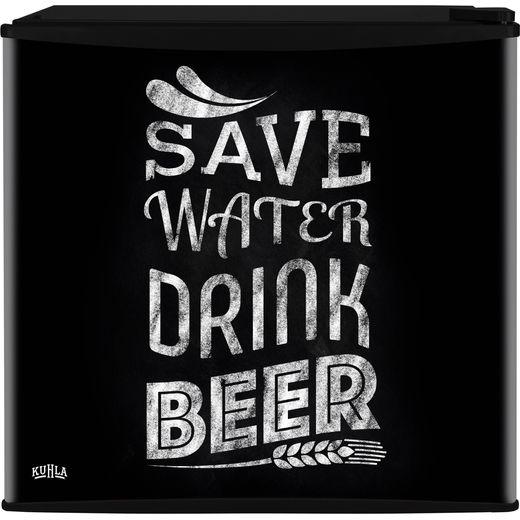 Kuhla KTTF4BGB-1003 Mini Fridge with Ice Box - Save Water Drink Beer Design - F Rated