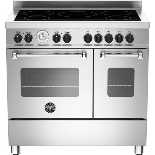 Bertazzoni Master Series MAS90-5I-MFE-D-XE 90cm Electric Range Cooker with Induction Hob - Stainless Steel - A+/A Rated