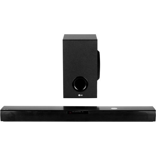 LG SJ2 Bluetooth 2.1 Soundbar with Wireless Subwoofer - Black