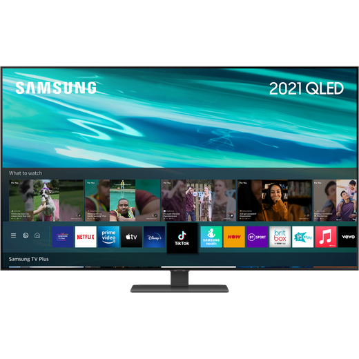 """Samsung QLED QE55Q80AA 55"""" 4K Ultra HD TV With 100% Colour Volume, With Quantum Processor 4K and Apple TV App"""