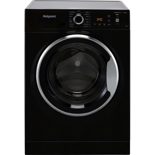Hotpoint ActiveCare NM11945BCAUKN 9Kg Washing Machine with 1400 rpm - Black - B Rated