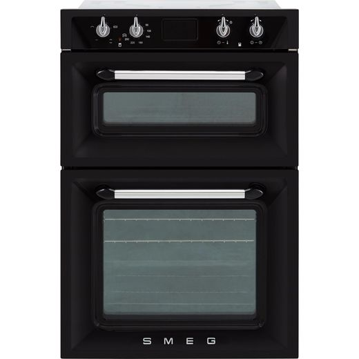 Smeg Victoria DOSF6920N1 Built In Electric Double Oven - Black - A/A Rated