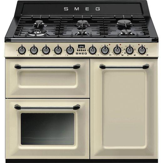 Smeg Victoria TR103P 100cm Dual Fuel Range Cooker - Cream - A/B Rated
