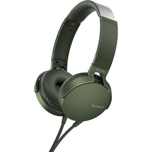 Sony MDR-XB550AP On-Ear Wired Headphones - Green