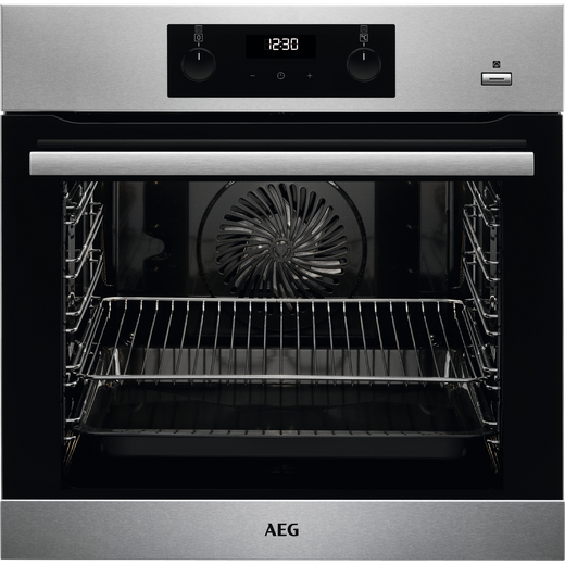 AEG BES355010M Built In Electric Single Oven with added Steam Function - Stainless Steel - A Rated