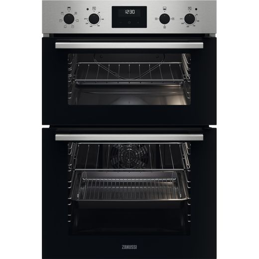 Zanussi ZKHNL3X1 Built In Electric Double Oven - Black - A/A Rated