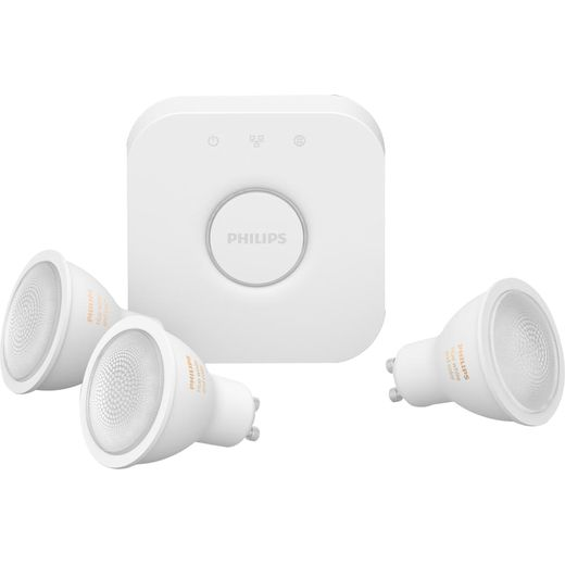 Philips Hue White and Colour Ambiance GU10 Kit - A+ Rated