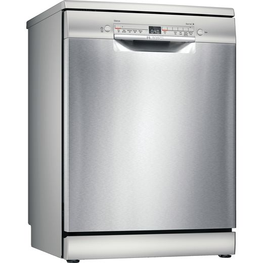 Bosch Serie 2 SGS2HKI66G Standard Dishwasher - Silver - D Rated