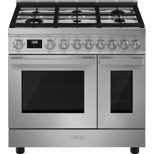 Smeg Portofino CPF92GMX Gas Range Cooker - Stainless Steel - A Rated