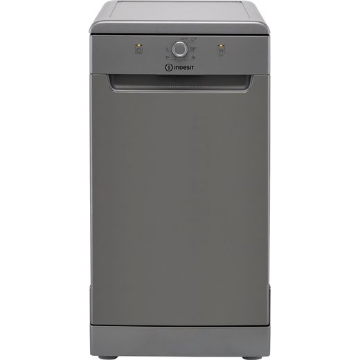 Indesit DSFE1B10SUKN Slimline Dishwasher - Silver