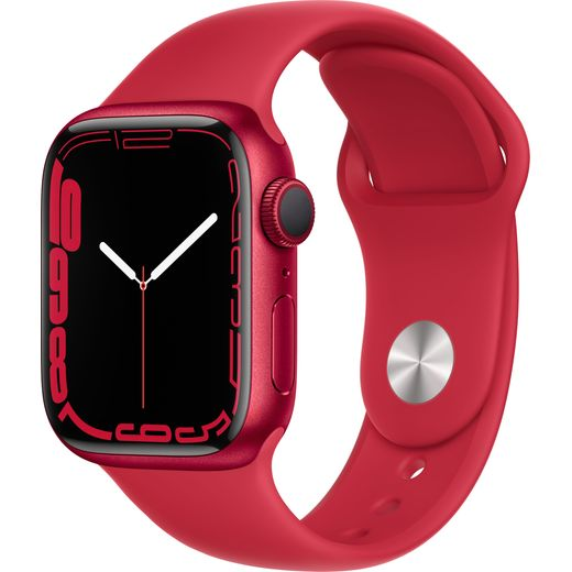 Apple Watch Series 7, 41mm, GPS [2021] - (PRODUCT) RED Aluminium Case with (PRODUCT)RED Sport Band
