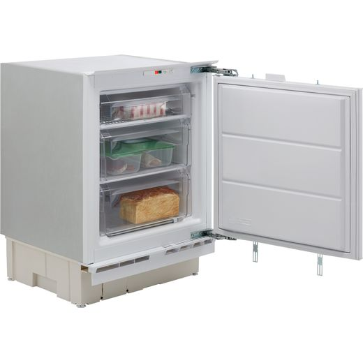 Indesit IZA1.UK1 Integrated Under Counter Freezer with Fixed Door Fixing Kit - F Rated