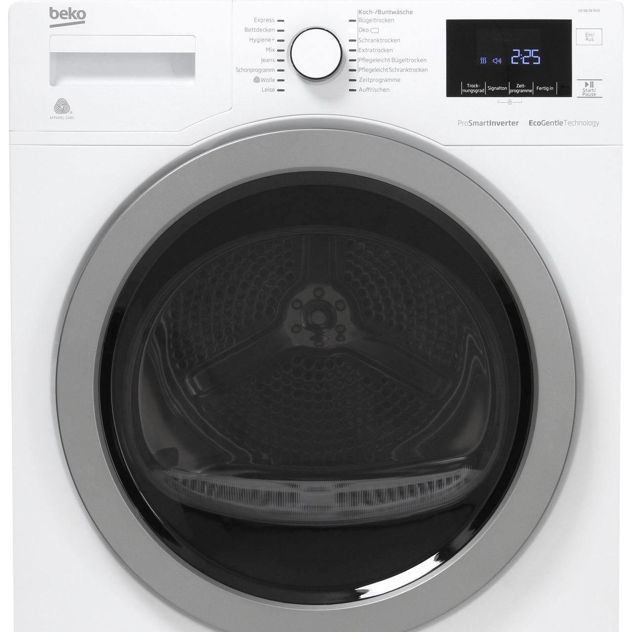 Beko DE8634RX0  Wärmepumpentrockner  EEK A++ bis 8 kg  weiß