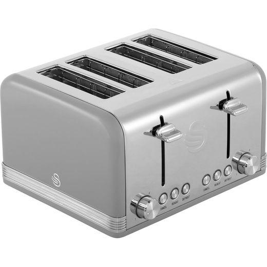 Swan Retro ST19020GRN 4 Slice Toaster - Grey