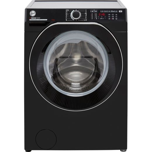 Hoover H-WASH 500 HW49AMBCB/1 Wifi Connected 9Kg Washing Machine with 1400 rpm - Black - A Rated