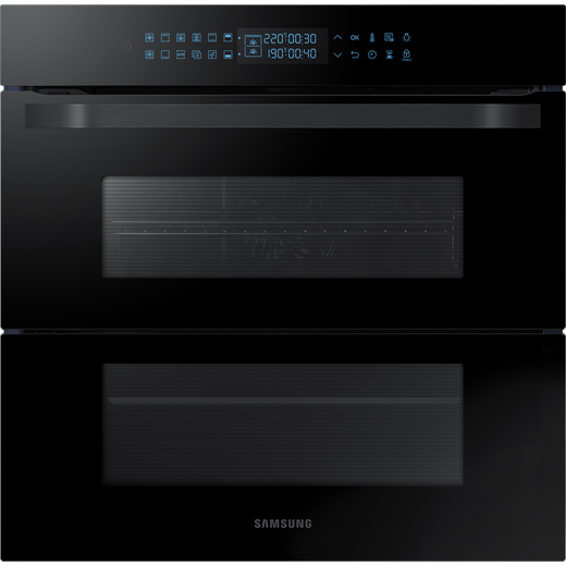 Samsung Prezio Dual Cook Flex NV75R7646RB Built In Electric Single Oven - Black Glass - A+ Rated