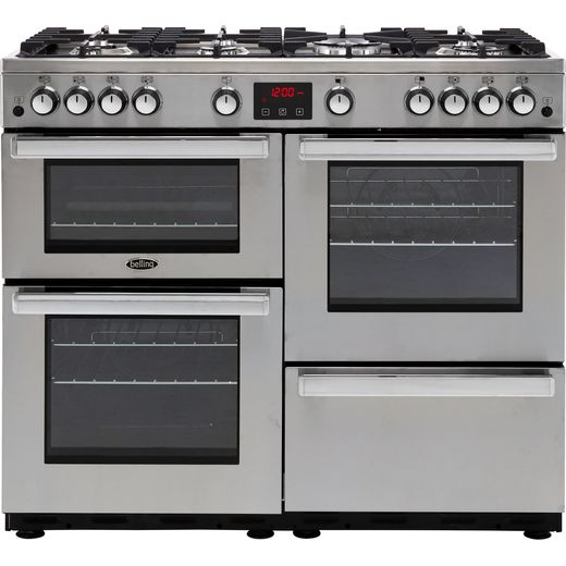 Belling Cookcentre100GProf 100cm Gas Range Cooker - Stainless Steel - A/A Rated