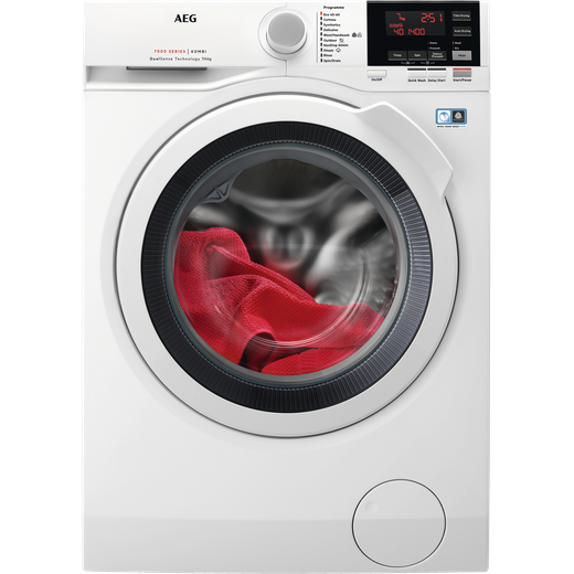 AEG DualSense Technology L7WBG741R 7Kg / 4Kg Washer Dryer with 1350 rpm - White - E Rated