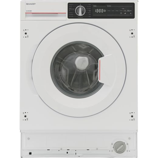 Sharp ES-NIH814BWC-EN Integrated 9Kg Washing Machine with 1400 rpm - White - C Rated