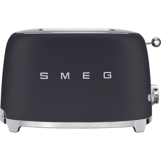 Smeg 50's Retro TSF01BLMUK 2 Slice Toaster - Matte Black