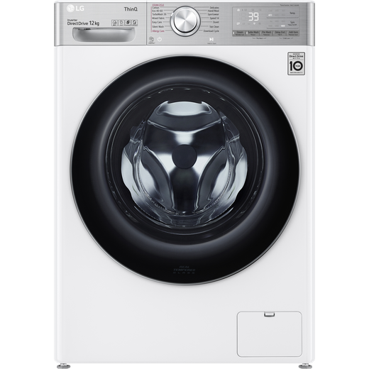 LG V10 F4V1012WTSE Wifi Connected 12Kg Washing Machine with 1400 rpm - White - A Rated