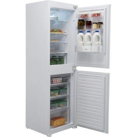 Candy BCBS1725TK/N Integrated Frost Free Fridge Freezer with Sliding Door Fixing Kit - White - F Rated