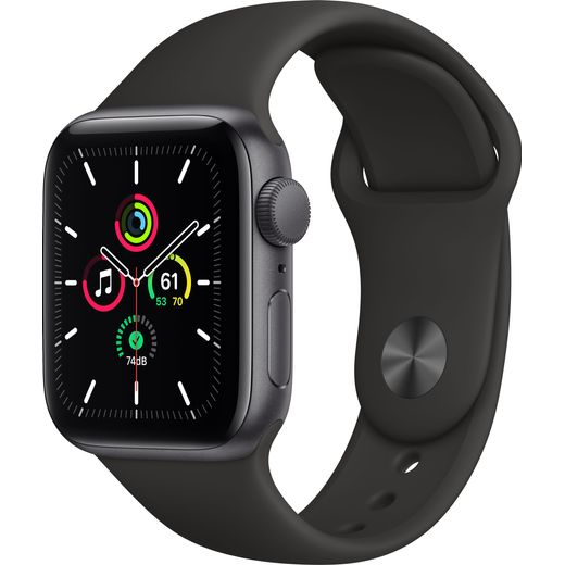 Apple Watch SE, 40mm, GPS [2020] - Space Grey Aluminium Case with Black Sport Band