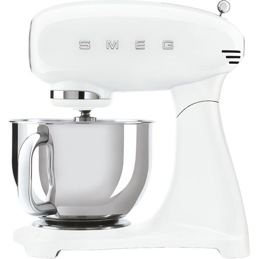 Smeg 50's Retro SMF03WHUK Stand Mixer with 4.8 Litre Bowl - White