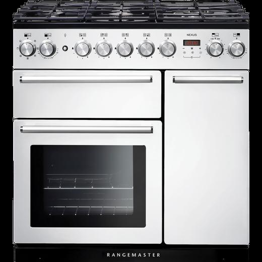Rangemaster Nexus NEX90DFFWH/C 90cm Dual Fuel Range Cooker - White - A/A Rated