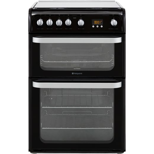 Hotpoint Ultima HUG61K 60cm Gas Cooker with Variable Gas Grill - Black - A+/A Rated