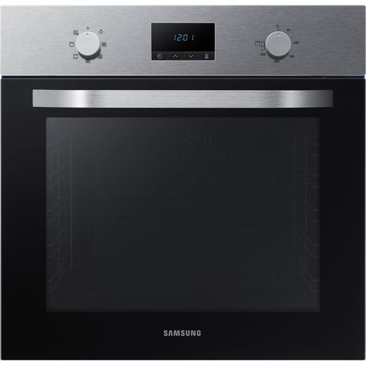 Samsung Dual Fan NV70K1310BS Built In Electric Single Oven - Stainless Steel - A Rated