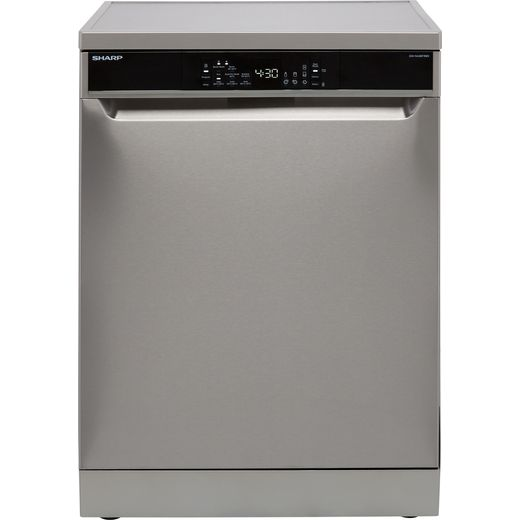 Sharp QW-NA26F39DI-EN Standard Dishwasher - Stainless Steel - D Rated