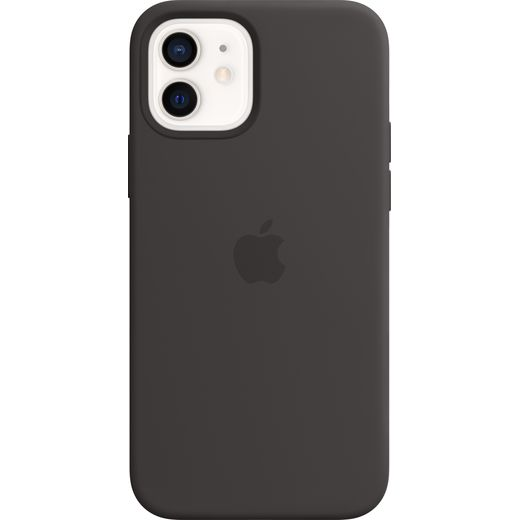 Apple Silicone Case with MagSafe for iPhone 12/12 Pro - Black