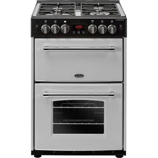 Belling Farmhouse60G 60cm Gas Cooker with Full Width Electric Grill - Silver - A+/A Rated