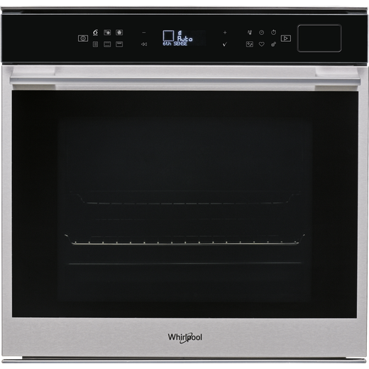 Whirlpool W Collection W7OS44S1P Built In Electric Single Oven with added Steam Function - Stainless Steel - A+ Rated