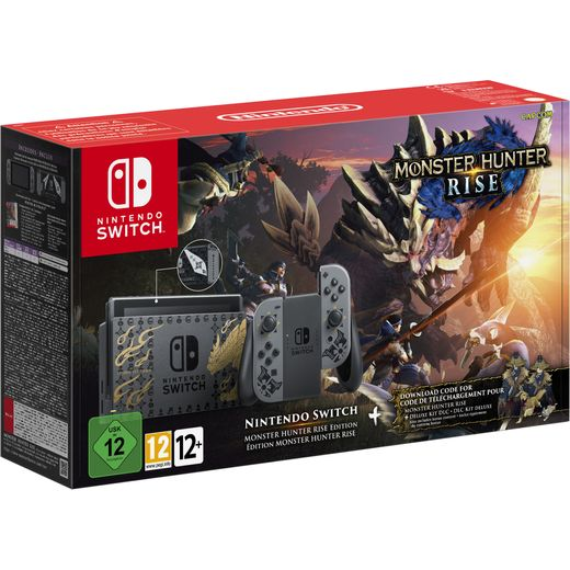 Nintendo with Monster Hunter Rise Edition - Stainless Steel / Silver