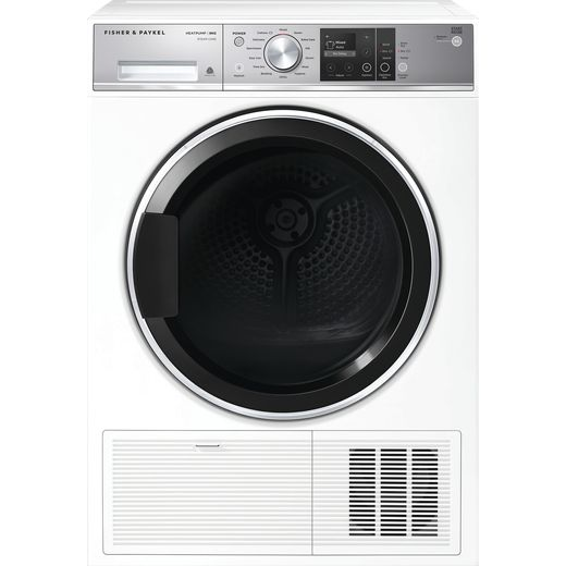 Fisher & Paykel DH9060FS1 9Kg Heat Pump Tumble Dryer - White - A+++ Rated
