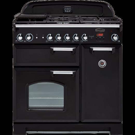 Rangemaster Nexus NEX90EIBL/C 90cm Electric Range Cooker with Induction Hob - Black / Chrome - A/A Rated