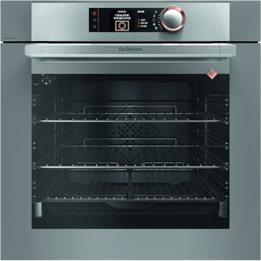 De Dietrich DOP8574G Built In Electric Single Oven - Grey / Stainless Steel - A+ Rated