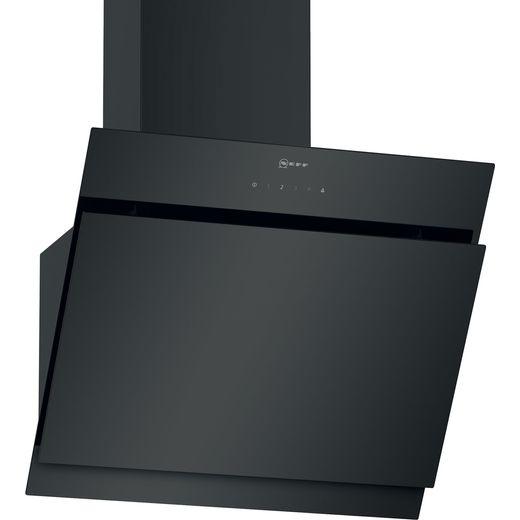 NEFF N50 D65IHM1S2B 60 cm Angled Chimney Cooker Hood - Black - B Rated