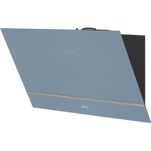 Smeg KV28S 80 cm Angled Chimney Cooker Hood - Silver Glass - A Rated