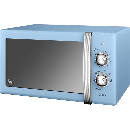 Swan Retro Manual SM22130BLN Microwave - Blue