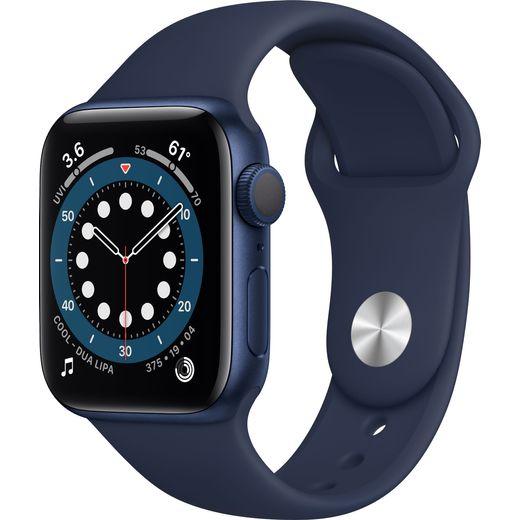 Apple Watch Series 6, 40mm, GPS [2020] - Blue Aluminium Case with Deep Navy Sport Band
