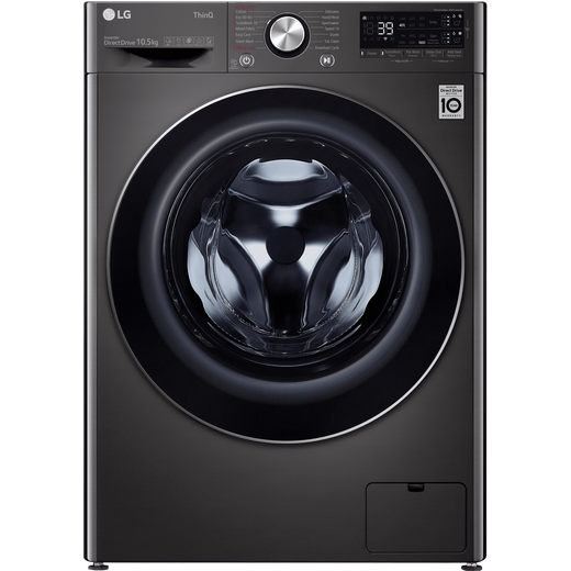 LG V9 F6V910BTSA Wifi Connected 10.5Kg Washing Machine with 1600 rpm - Black Steel - A Rated