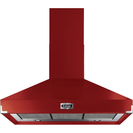 Falcon FHDSE1000RD/N 100 cm Chimney Cooker Hood - Cherry Red - A Rated