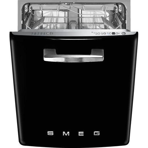 Smeg DIFABBL Fully Integrated Standard Dishwasher - Black Control Panel - B Rated